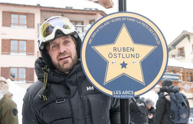Ruben Ostlünd sur une des pistes de ski des Arcs