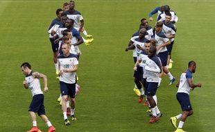 Les Bleus s'entraînant au Stade de France, le 3 septembre 2014.