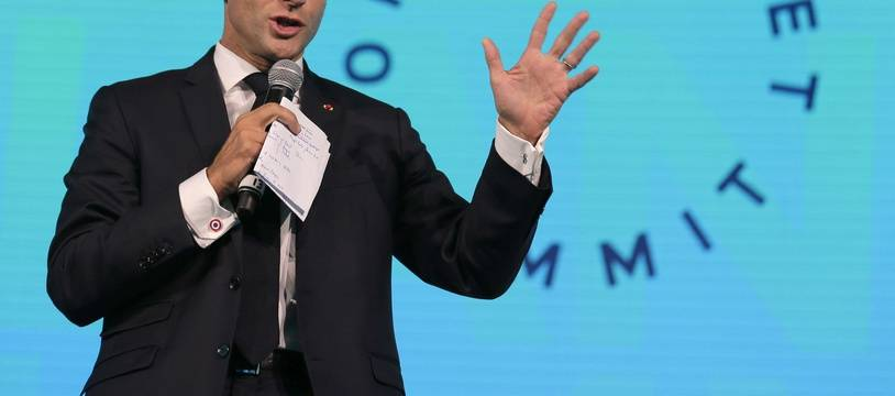 Emmanuel Macron au One Planet Summit, un sommet sur la finance verte, le 26 septembre 2018.