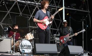 Le groupe The Rapture au Rockness Festival en Ecosse le 9 juin 2012.