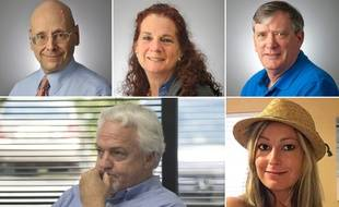 Les cinq employés du «Capital Gazette», un journal du Maryland, tués lors d'une fusillade le 28 juin 2018: Gerald Fischman, Wendi Winters, John McNamara, Rob Hiaasen et Rebecca Smith.
