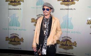 L'acteur Johnny Depp à l'inauguration du Guitar Hotel à Hollywood
