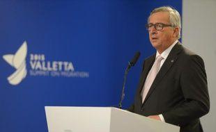 Le président de la Commission européenne, Jean-Claude Juncker, le 12 novembre 2015 à La Vallette