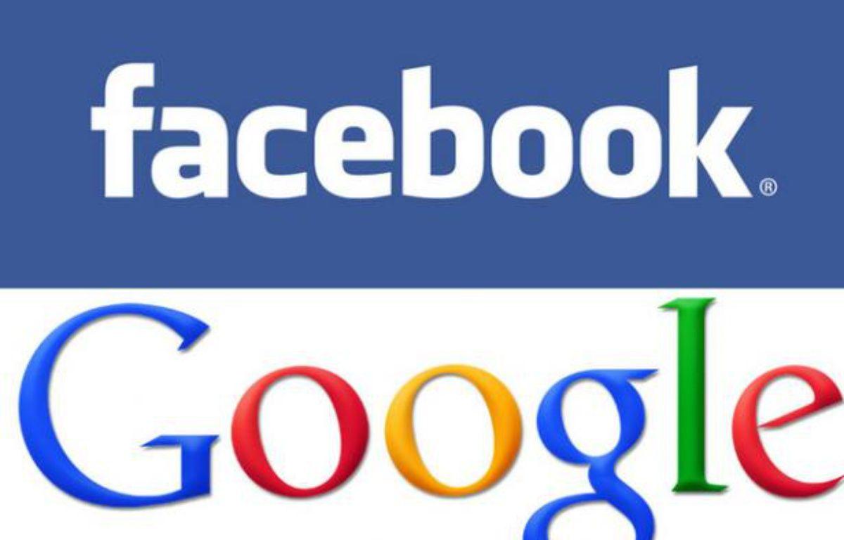 Les logos officiels de Facebook et Google. – DR