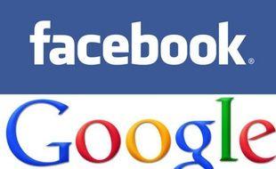 Les logos officiels de Facebook et Google.