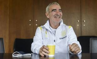 Raymond Domenech, l'entraîneur du FC Nantes.