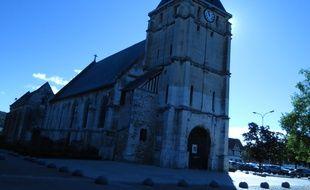 L'église de Saint-Etienne-du-Rouvray, marquée par un attentat terroriste le 26 juillet 2016.