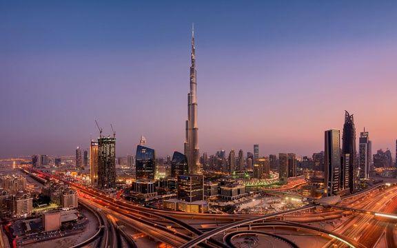 Vue panoramique de Dubaï.