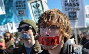 Manifestation contre les programmes de surveillance de la NSA le 26 octobre 2013 à Washington