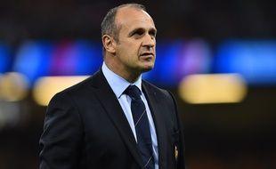 Le manager du XV de France Philippe Saint-André, le 11 octobre 2015 à Cardiff.