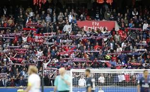 Les Ultras du PSG ont fait leur réapparition au Parc des Princes lors du match contre Bordeaux, le 1er octobre 2016.