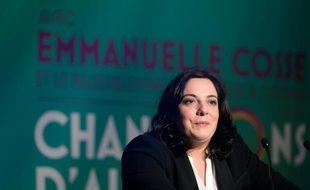 La secrétaire nationale d'EELV Emmanuelle Cosse, le 3 décembre 2015 à Paris
