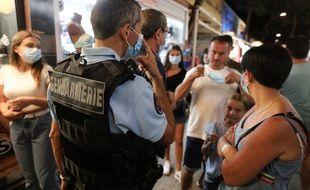 Lors d'un contrôle de gendarmerie à Argelés-sur-Mer, dans les Pyrénées-Orientales, en août 2020.