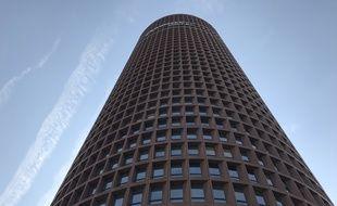 La tour Part-Dieu à Lyon, haute de 165 mètres
