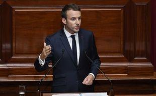 Emmanuel Macron devant le Congrès, le 3 juillet 2017.