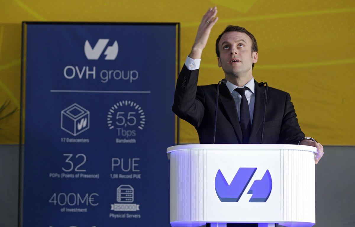 Le ministre de l'Economie, Emmanuel Macron, a visité le Campus d'OVH, à Roubaix. – M.Libert / 20 Minutes