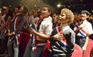 Le Parlement des enfants, à Montpellier, ce jeudi.