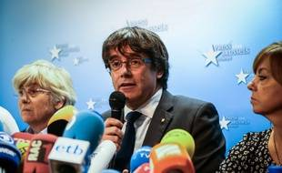 Carles Puigdemont, le président catalan destitué, s'est exprimé depuis Bruxelles