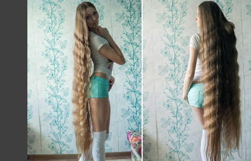 Russie Avec Ses Cheveux Tres Tres Longs Elle Se Prend Pour