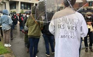 La première manifestation post-déconfinement au CHU de Toulouse.