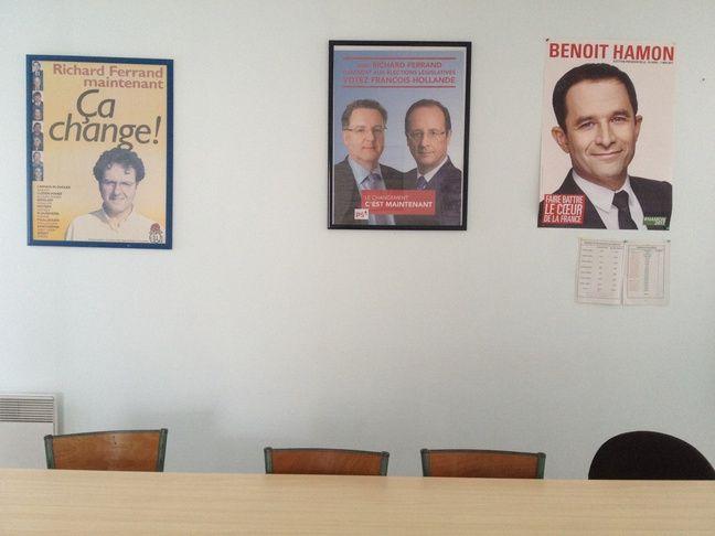 La section locale du Parti socialiste, à Carhaix (Finistère).