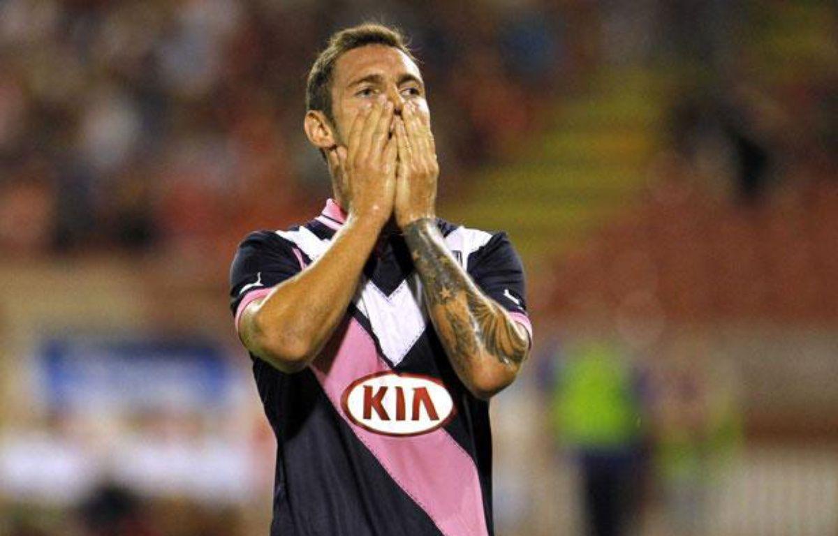 Le joueur bordelais Ludovic Obraniak, lors d'un match contre l'Etoile Rouge de Belgrade, le 23 août 2012 à Belgrade. – Sipa