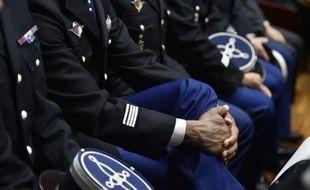 Des gendarmes lors d'une cérémonie en janvier 2016 à Nantes