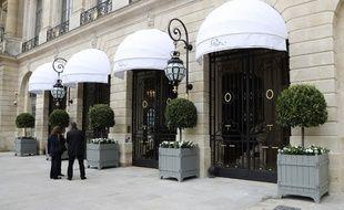 L'entrée du Ritz le 6 juin 2016.