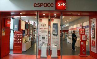 Illustration d'une boutique SFR.