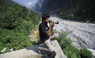 Le photojournaliste indien Danish Siddiqui, en 2013 en Afghanistan.