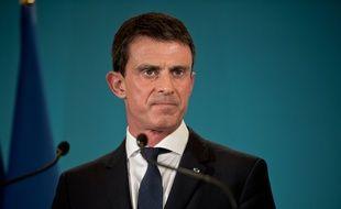 Manuel Valls à Matignon le 4 novembre 2015.