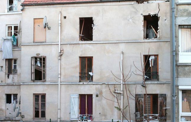 L'immeuble de Saint-Denis contre lequel a été mené l'assaut contre les terroristes du 13 novembre.