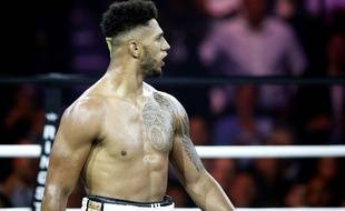 Tony Yoka lors de son premier combat professionnel remporté face à Travis Clark, le 3 juin 2017.