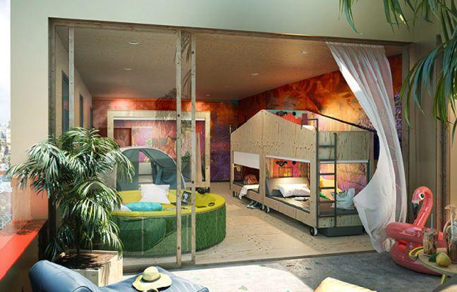 Image de synthèse du concept Jo&Joe d'Accor Hotels