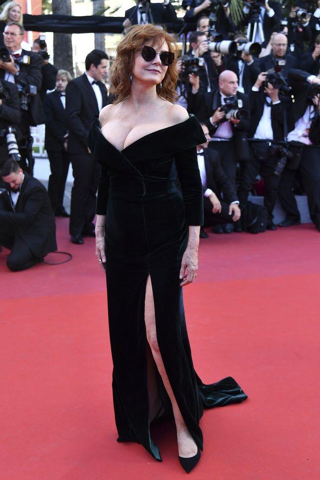 Susan Sarandon au Festival de Cannes, le 17 mai 2017.