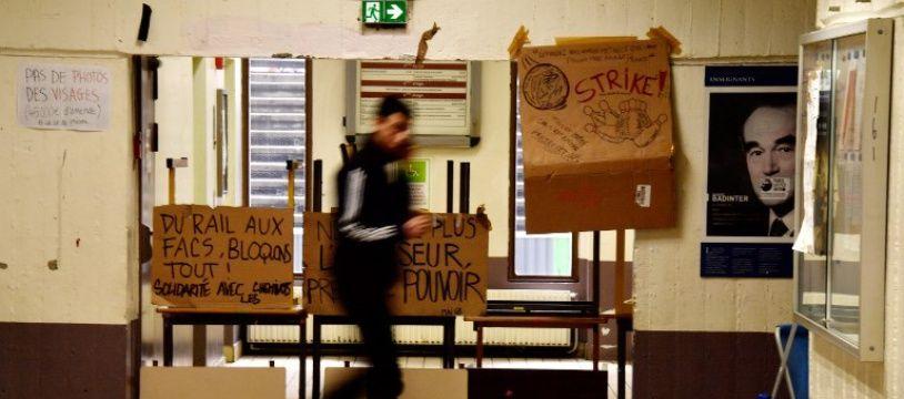 La fac de Tolbiac, l'un des épicentres de la contestation étudiante.
