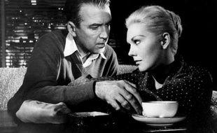 Kim Novak et James Stewart dans le film «Sueurs froides» («Vertigo», en version originale) d'Alfred Hitchcock (1958).