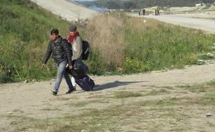 Calais, le 25 octobre 2016 - Evacuation de la jungle, camp de migrants