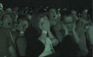 Réaction de la salle lors d'une projection du film Paranormal Activity
