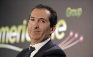 Le patron d'Altice Patrick Drahi le 17 mars 2014 à Paris