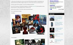 Capture d'écran du blog anti Hadopi Nikopik, qui accuse l'Elysée et le ministère de la Culture de télécharger illégalement en peer-to-peer.