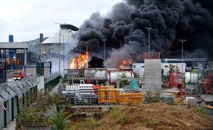 Plus de 5.000 tonnes de produits ont brûlé dans l'incendie de l'usine Lubrizol à Rouen, jeudi dernier.