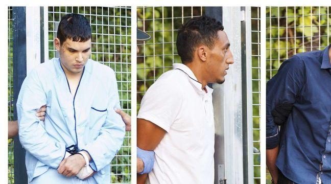 Les quatre suspects arrêtés dans le cadre de l'enquête sur les attentats en Catalogne ont été présentés aux juges ce mardi 22 août 2017, au tribunal de Madrid. – AP/SIPA