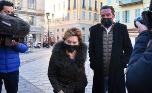 Arrivée au palais de justice de Jacqueline Veyrac avec, à sa droite, son fils Gerard Veyrac, le vendredi 8 janvier 2021