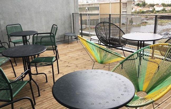 Des terrasses ont aussi été installées à la résidence Student Factory.