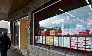 Un magasin andorran spécialisé dans les cigarettes.