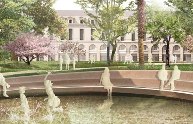 La fontaine de la nouvelle place Gambetta à Bordeaux