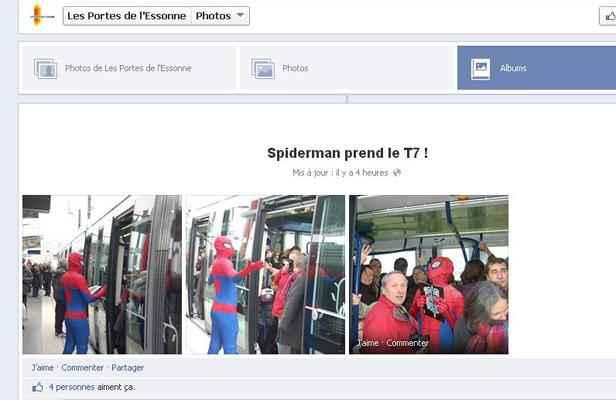 Spider man pr sent l 39 inauguration du tramway 7 - Communaute d agglomeration des portes de l essonne ...