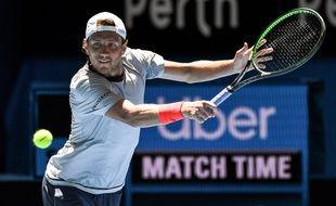 Lucas Pouille, ici lors de la Hopman Cup à Perth, a enfin passé le 1er à l'Open d'Australie lors de l'édition 2019.
