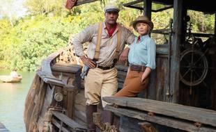 Les acteurs Dwayne Johnson et Emily Blunt dans «Jungle Cruise»